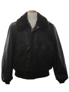 1970's Mens Leather Flight Bomber Style Jacket