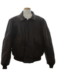 1980's Mens Indiana Jones Style Leather Aviator Jacket