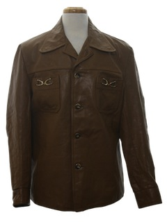 1970's Mens Leather Leisure Style Jacket