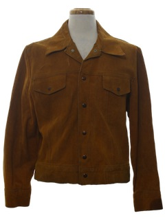 1970's Mens Suede Leather Hippie Style Jacket