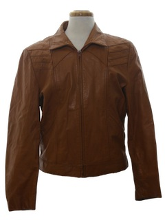 1970's Mens Leather Racer Jacket