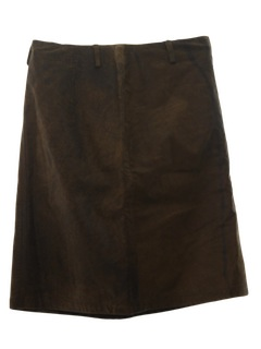 1980's Womens Totally 80s Leather Mini Skirt