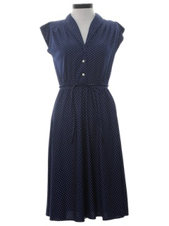 1970's Womens 40s Inspired Day Dress