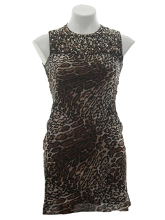 1960's Womens Designer Cocktail Wiggle Dress
