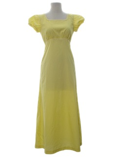 1970's Womens Prom/Cocktail Maxi Dress