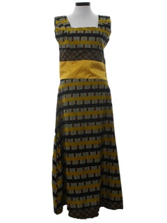 1980's Womens Hippie Maxi Dress