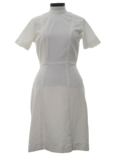 1970's Womens Knit Nurse Style Dress