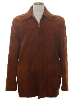 1950's Mens Leather Coat Jacket