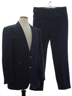 1970's Mens Denim Disco Suit