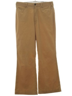 1970's Mens Corduroy Bellbottom Leisure Pants