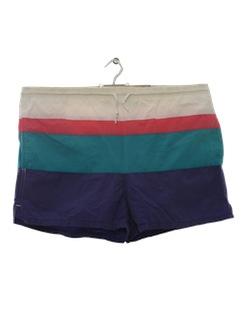 1990's Mens Totally 80s Swim Shorts