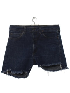 1970's Mens Levis 505 Cut Off Jeans Shorts