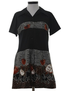 1970's Womens A-Line Mini Dress
