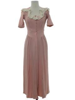 1940's Womens Fabulous 40s Maxi Dress