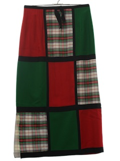 1970's Womens Prairie Patch Christmas Style Skirt