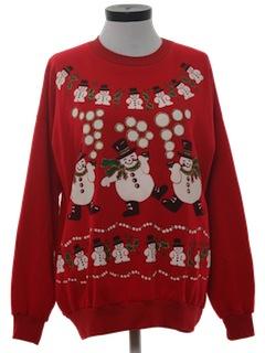 1980's Unisex Ugly Ugly Christmas Sweatshirt