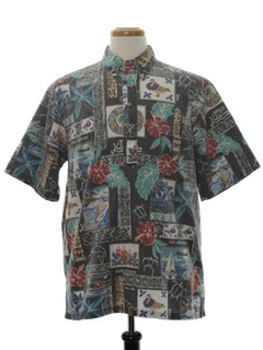 1980's Mens Reverse Print  Ugly Christmas Shirt