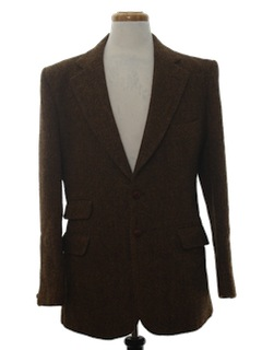 1970's Mens Wool Blazer Coat Jacket