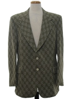 1970's Mens Sport Coat Blazer Jacket