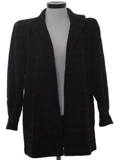 1980's Womens Totally 80s Wool Wrap Jacket