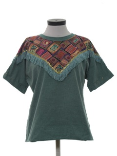 1980's Womens Totally 80s Hippie Style Shirt
