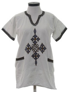1980's Womens Hippie Tunic Shirt