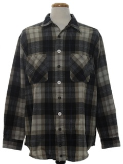1990's Mens Wicked 90s Grunge Style Flannel Shirt