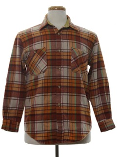 1970's Mens Flannel Shirt