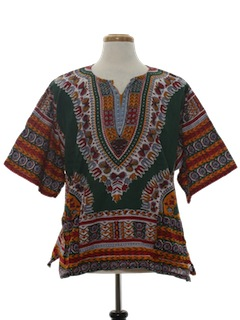 1970's Unisex Reproduction Hippie Dashiki Style Shirt