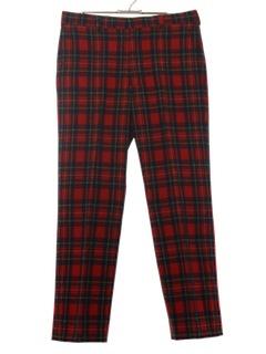 1970's Mens Wool Pendleton Pants