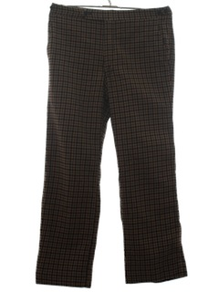 1970's Mens Wool Plaid Slacks Pants