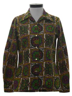 1970's Womens Hippie Disco Shirt