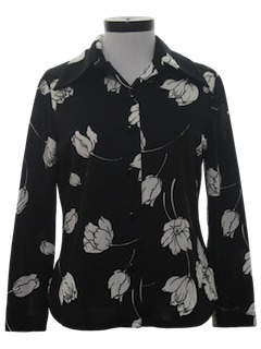 1970's Womens Polyester Shirt