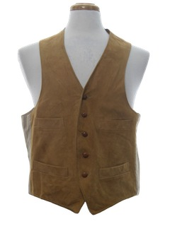 1950's Mens Leather Vest