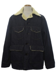 1970's Mens Denim Coat Jacket