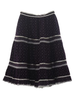 1970's Womens Peasant Style Skirt