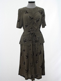 1940's Womens Fab Forties Style Dress