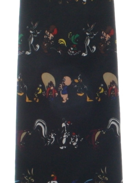 1990's Mens Wide Looney Tunes Necktie