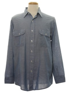 1980's Mens Work Style Shirt