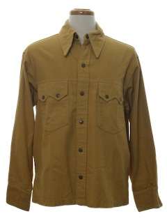 1970's Mens Leisure Style Shirt Jacket