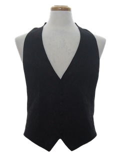 1980's Mens Totally 80s Tuxedo or Formal Vest