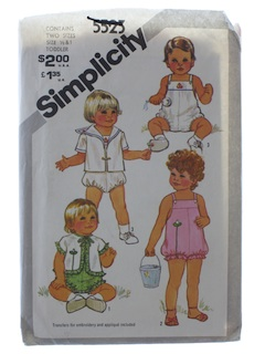 1980's Unisex Childs Pattern