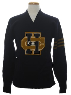 1960's Mens Letterman Sweater