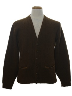 1970's Mens Cardigan Sweater