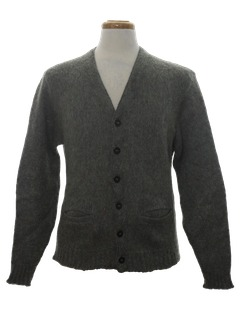 1960's Mens Mohair Cardigan Sweater