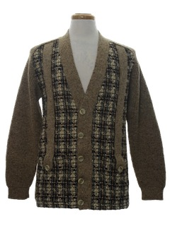 1970's Mens Wool Cardigan Sweater