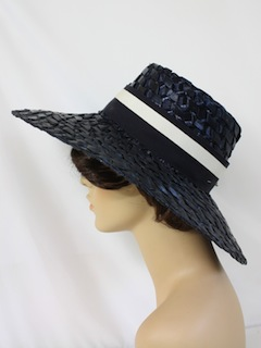 1960's Womens Accessories - Wide Brim Straw Hat
