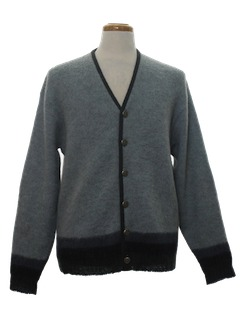 1970's Mens Wool Sweater Jacket