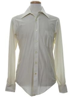 1980's Mens Solid Disco Shirt