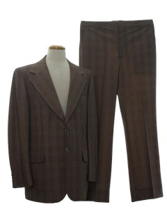 1970's Mens Blazer Style Sport Coat Jacket & Slacks Suit